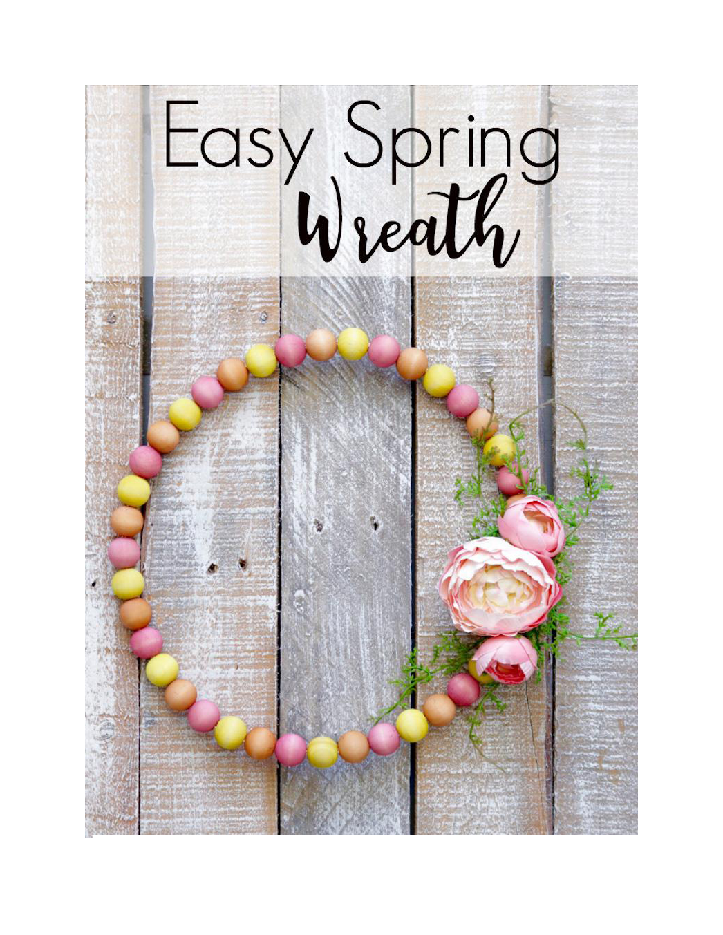 Spring Wreath Making!