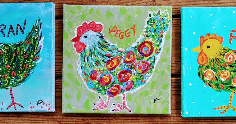 Chicken Scratch Art , The Hen Collection, is here!